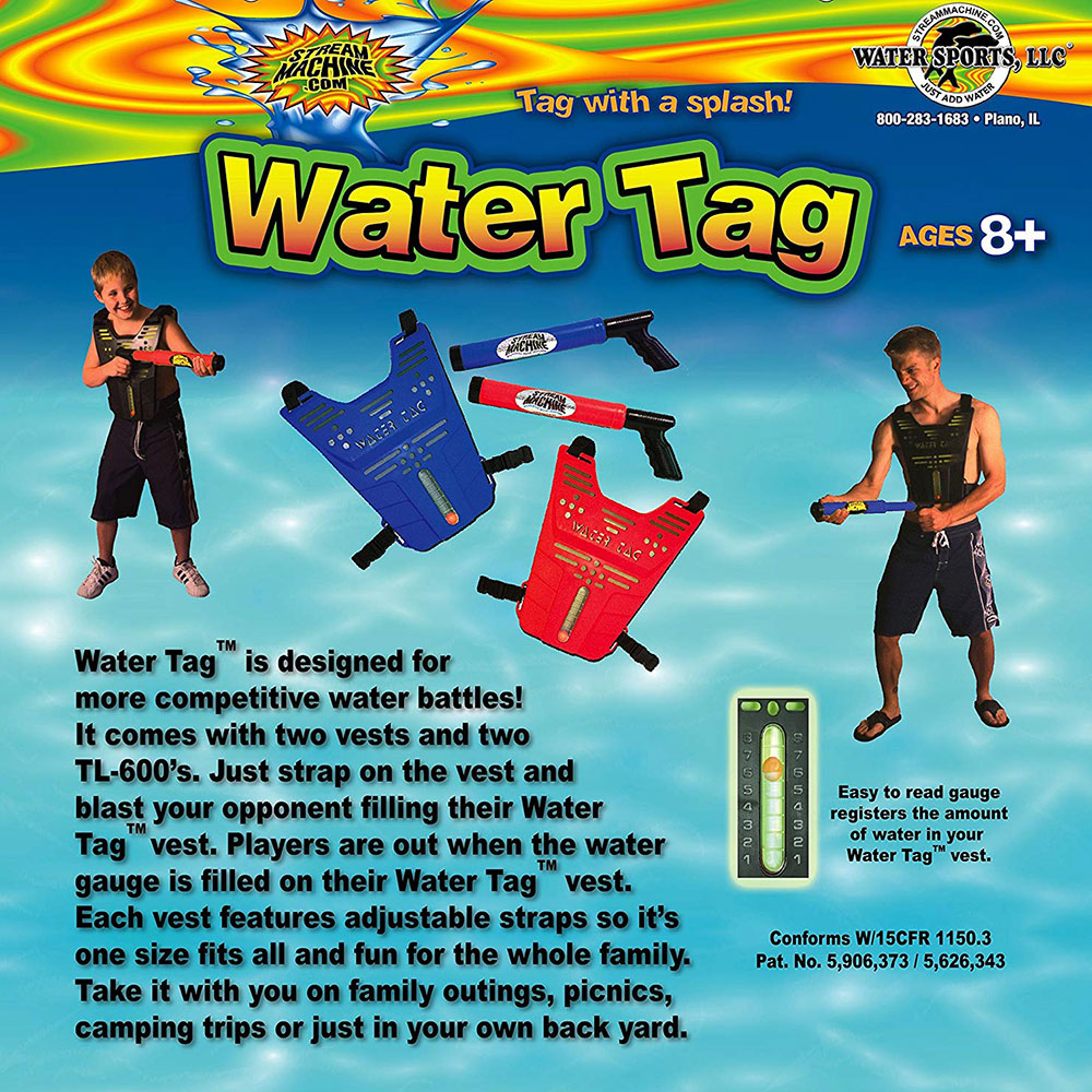 4 Pack Bundle of Water Tag Set with Water Launchers, Water Sports Tag Set 80020-6