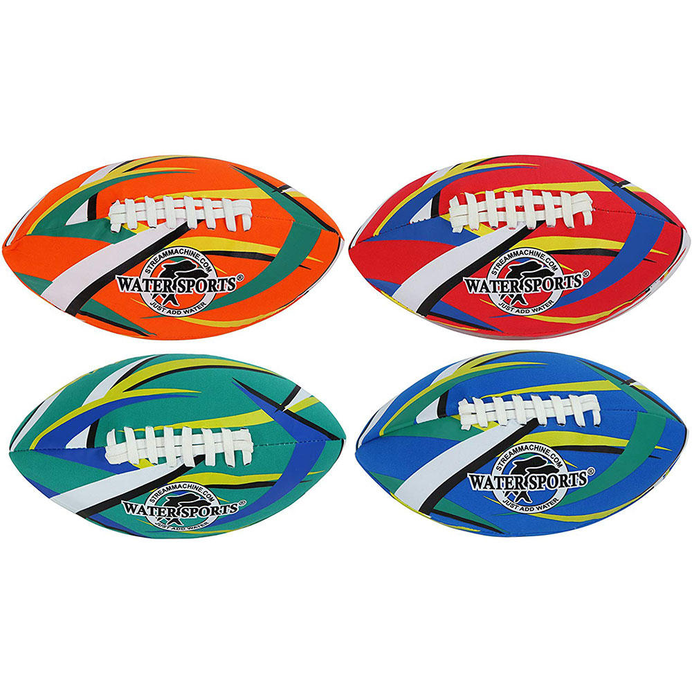 4 Pack Bundle of ItzaFootball, 9-Inch Football, Water Sports Itzafootball 80080-0