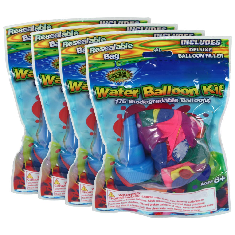 4 Pack Bundle of Balloon Refill Kit with 175-Balloons, Water Sports Water Balloons Kit 80081-7