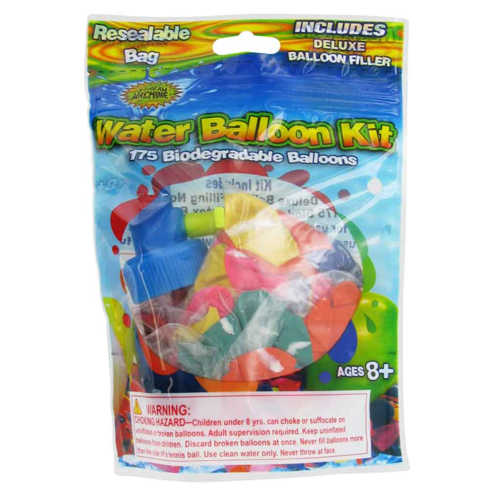 Balloon Refill Kit with 175-Balloons, Water Sports Water Balloons Kit 80081-7