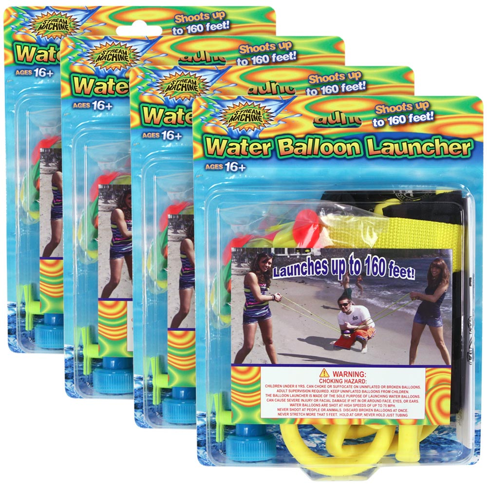 4 Pack Bundle of 3 Person Balloon Launcher, Water Sports Water Balloon Launcher 80083-1