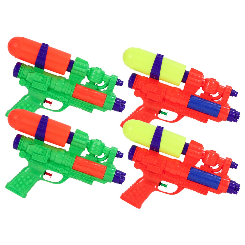 4 Pack Bundle of Water Pistol CSG X2 Water Gun, 11-Inches, Water Sports 81001-4