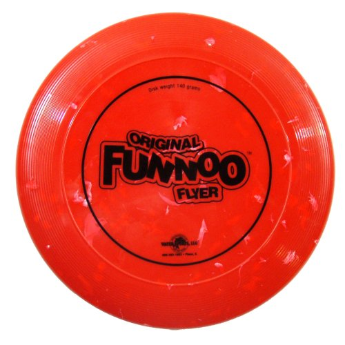 Original FUNNOO Flyer, Flying Disc, Water Sports 140 Gram Disk 81073-1