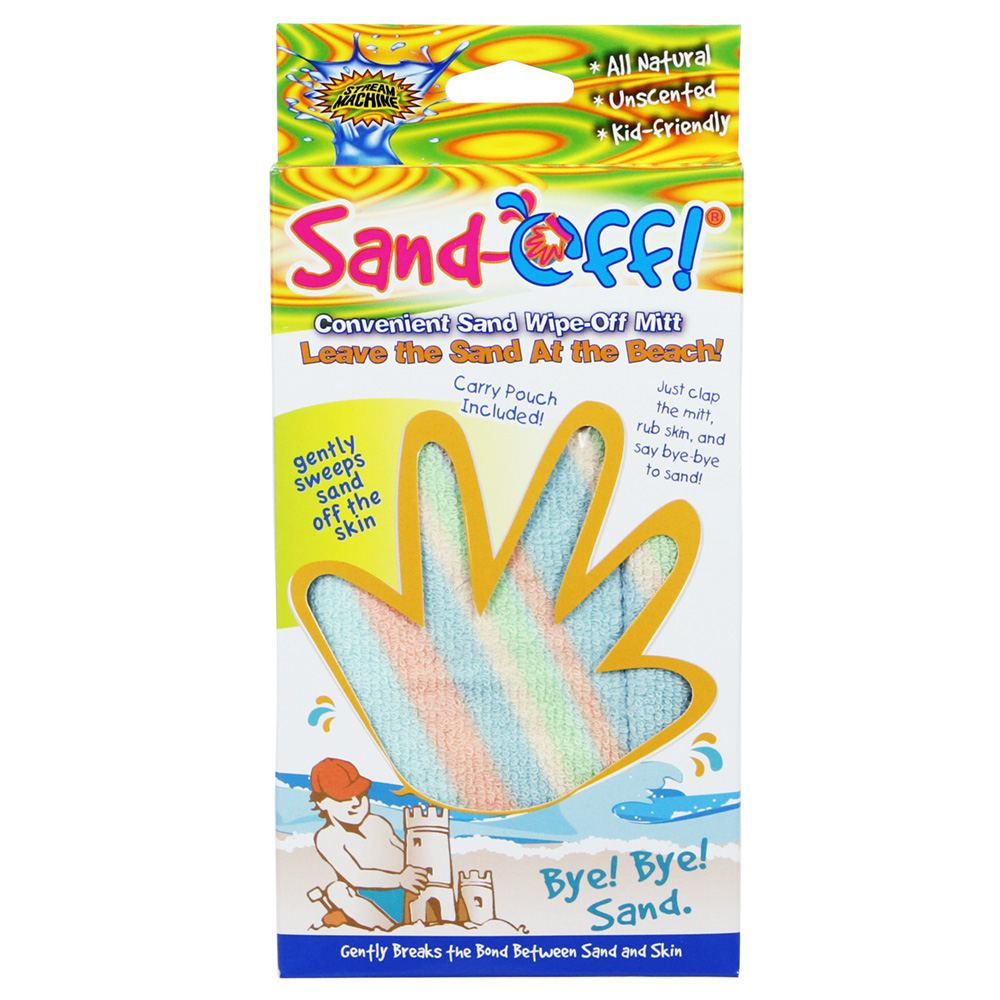 Sand-Off! Reusable Beach Sand Wipe Off Mitt, Water Sports 81110-3