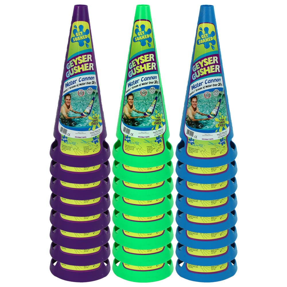 24 Pack Bundle of Geyser Gusher Water Cannon, WaterSports 84000-4