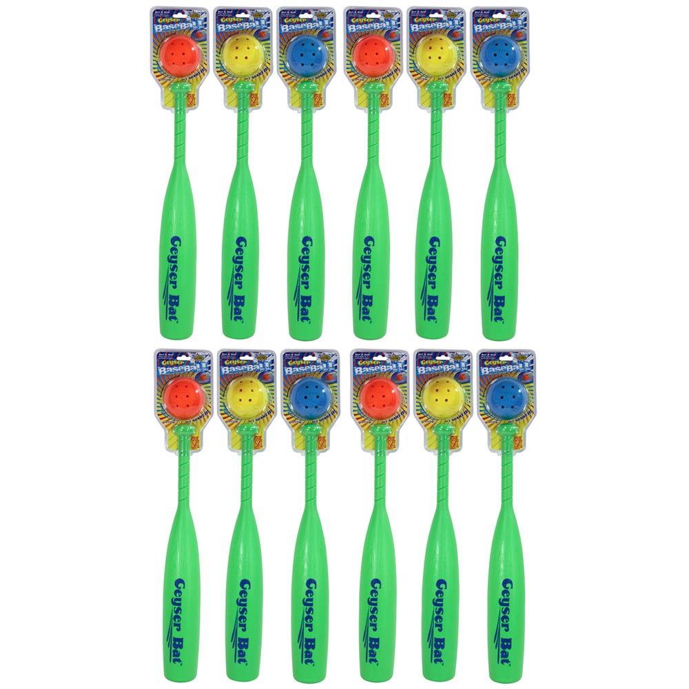 12 Pack Bundle of Geyser Baseball & Bat, WaterSports 84005-9