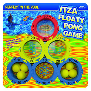 ItzaFloatyPong Backyard and Pool Game, Water Sports 82055-6