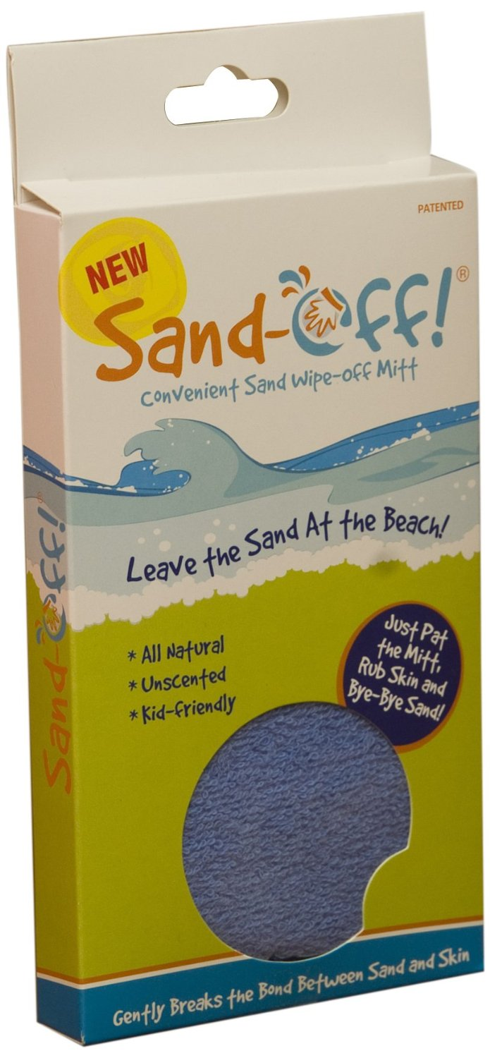 sand off beach mitts, dry rub powder sand remover