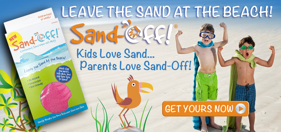 sand-off! sand wipe off mitts